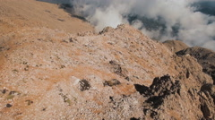 Flying Through Soft Fluffy Clouds on High Altitude Stock Footage
