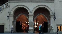Krakow, Poland Sukiennice TImelapse Stock Footage