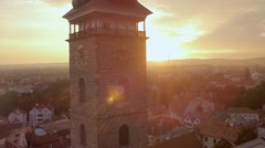 City Hall at dawn.  Aerial view. Stock Footage