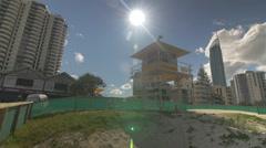 Gold Coast Lifeguard Tower Stock Footage