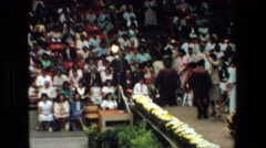 1981: a big ceremony with a lot of people LANSING MICHIGAN Stock Footage
