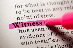 Witness Stock Photos