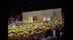 1981: official graduation ceremony LANSING MICHIGAN Stock Footage