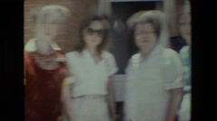 1981: women gathering LANSING MICHIGAN Stock Footage