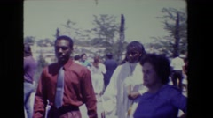 1981: graduation ceremony LANSING MICHIGAN Stock Footage