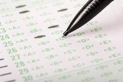 Answer Sheet with Mechanical Pencil Stock Photos