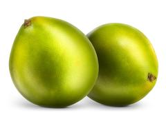 Group of pomelo citrus fruit isolated on white Stock Photos