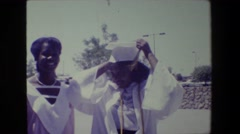 1981: happiness is graduation day. LANSING MICHIGAN Stock Footage