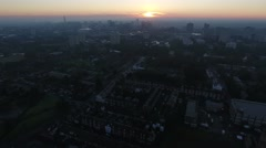 Aerial view of Birmingham city centre, UK at sunrise. Stock Footage