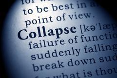 Collapse Stock Illustration