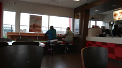 People ordering foods inside A&W restaurant with 4k resolution. Stock Footage