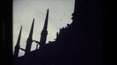 1981: old haunted building. PARIS FRANCE Stock Footage