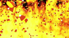 Fire background with candy corn Stock Footage