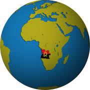 Angola territory and flag Stock Illustration