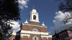 St. Stephen's Catholic Church in Boston, MA. Stock Footage