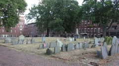 Copp's Hill Burying Ground in Boston, MA. Stock Footage