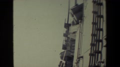 1981: view from a ship waves swishing away SAN DIEGO NAVAL BASE Stock Footage