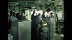 1981: the inside of a packed restaurant SAN DIEGO NAVAL BASE Stock Footage