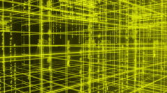Digital technology and line backgorund rotating 90 4K yellow Stock Footage