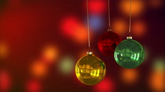 Xmas baubles decoration. Stock Footage