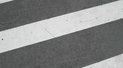Crosswalk Zebra Stock Footage