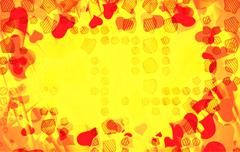 Abstract love background full of hearts. Valentine s day frame for card with Stock Illustration