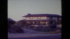 1984: sighting of a normal looking house. CALIFORNIA Stock Footage