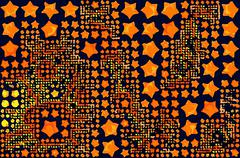 Abstract background full of stars and round shapes confetti Piirros