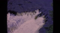 1964: waterfall view from the top NIAGRA FALLS NEW YORK Stock Footage