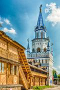 The iconic complex Izmailovskiy Kremlin in Moscow, Russia Stock Photos