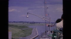 1964: the anchoring of the mighty ship NIAGRA FALLS NEW YORK Stock Footage