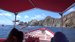 A boat in Cabo San Lucas, Mexico. Stock Footage