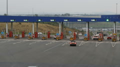Timelapse of traffic passing through toll booths, Tyne Tunnel, Newcastle. Stock Footage