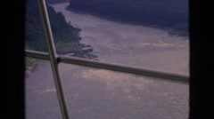 1964: aerial view of the river canyon. NIAGRA FALLS NEW YORK Stock Footage
