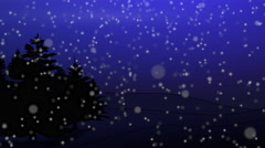 Blue christmas moon, zoom out Stock Footage