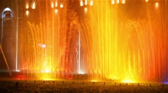 Singing Music Fountain Stock Footage
