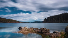 Lake Schluchsee in the black forest in Germany Stock Footage