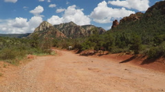Restricted Jeep 4X4 Road- Huckaby Trail Area- Sedona Arizona Stock Footage