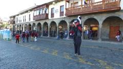 Cusco peru corpus christi parade 1 Stock Footage