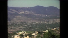 1972: panoramic view of mountains hills and valleys  Stock Footage