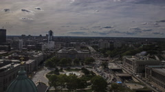 Philadelphia Traffic around Eakins Oval during the Day Stock Footage