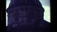 1981: buildings are shown in a city on a dark day PARIS FRANCE Stock Footage