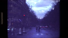 1981: scenes of a city street at dusk PARIS FRANCE Stock Footage