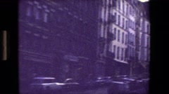 1981: passing buildings in the city. PARIS FRANCE Stock Footage
