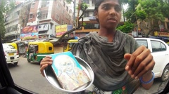 Beggars in India Stock Footage