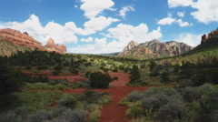 Huckaby Hiking Trail Area- Camera Pans- Sedona AZ Stock Footage