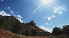Huckaby Trail Area Tilt From Mountain To Sun- Sedona Arizona Stock Footage