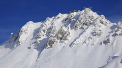 The top of a snow covered mountain. Stock Footage