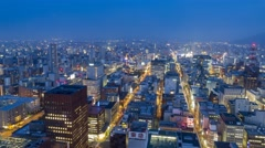 4K Timelapse of Sapporo city downtown Stock Footage