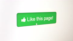 Like this page Button Stock Footage